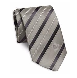 Versace  - Stripe Silk Tie