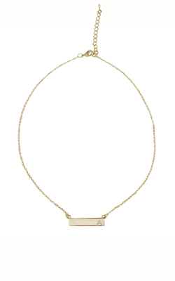 ILY - Bar Initial Necklace