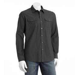 Marc Anthony  - Slim-Fit Military Casual Button-Down Shirt