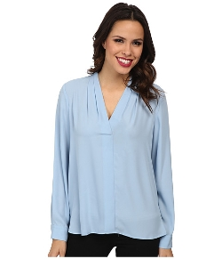 Vince Camuto - V-Neck Shirttail Blouse