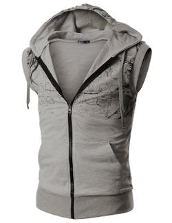 Doublju - Hood Zip Up Vest