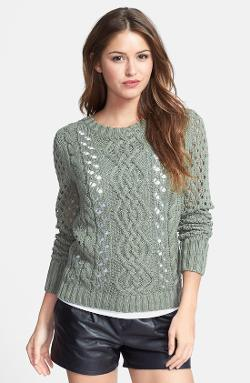 Caslon  - Cable Knit Front Sweater