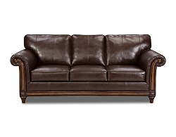 Simmons Upholstery - San Diego Coffee Bonded Leather Couch