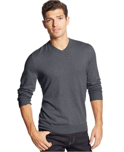 Club Room - Cotton-Cashmere-Blend V-Neck Sweater