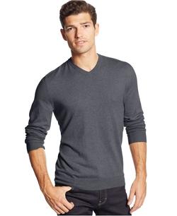 Club Room - Cotton-Cashmere-Blend V-Neck Sweater