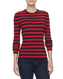 MIchael Kors - Striped Long-Sleeve Pullover