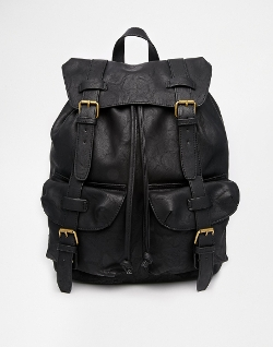 Asos - Faux Leather Backpack