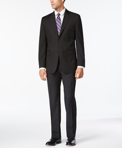 Izod  - Tonal Stripe Classic Fit Suit