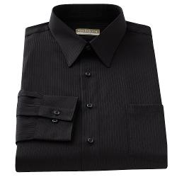 Van Heusen  - Fitted Solid Sateen Button-Front Shirt