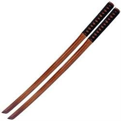 Asian Zing - Kendo Wooden Practice Bokken Katana Sword Set