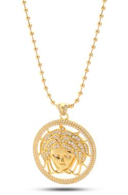 King Ice - King Ice CZ Medusa Head Necklace