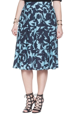 Eloquii - Soft Pleat Midi Skirt