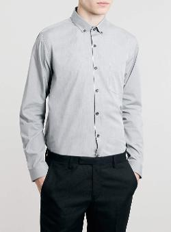 Grey Marl - Long Sleeve Smart Shirt
