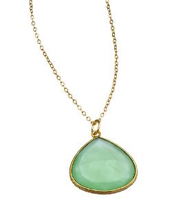 Charlene K  - Green Chalcedony Pendant Necklace