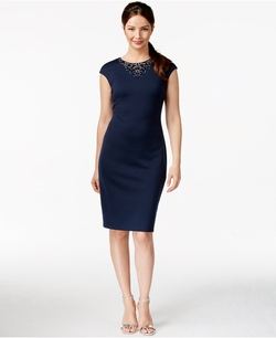 Alfani Prima - Embellished Scuba Dress