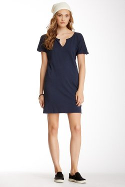 C & C California - Split Neck Shift Dress