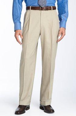 Ballin - Pleated Wool Twill Trousers