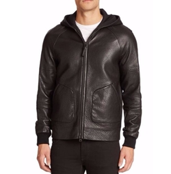 Mackage  - Grayson Pebbled Leather Jacket
