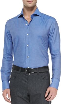 Neiman Marcus - Solid Woven Shirt