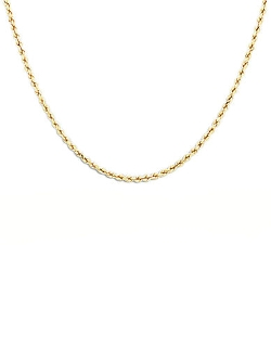 Lord & Taylor - Yellow Gold Rope Chain Necklace