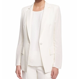 Lafayette 148 New York - Lorelle One-Button Cotton Blazer