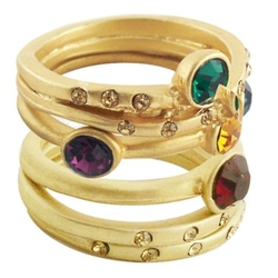 Target - 5Pc Crystals Stack Rings