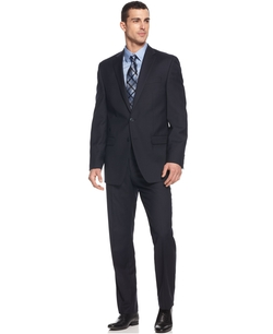 Calvin Klein - Solid Navy Slim-Fit Suit