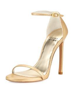Stuart Weitzman  - Nudist Ankle-Strap Sandal