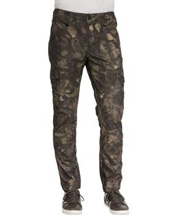 J Brand Jeans  - Trooper Camo Cargo Twill Pants, Tumbled Newberry