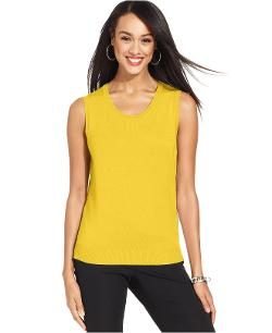 Charter Club - Sleeveless Crew-Neck Shell