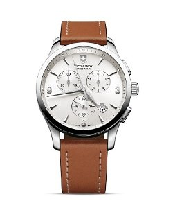 Victorinox Swiss Army  - Alliance Chronograph Watch with Leather Strap