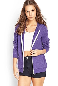 Forever 21 - Everyday Heathered Hoodie Jacket