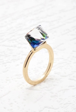 Forever 21 - Faux Gemstone Cube Ring