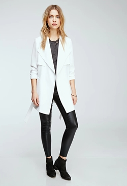 Forever 21 - Draped Shawl Collar Coat