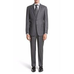 Armani Collezioni  - G-line Trim Fit Solid Wool Suit