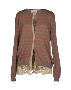 Erika Cavallini Semicouture - Stripe Cardigan Sweater