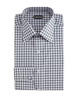 Tom Ford - Check-Pattern Silk Dress Shirt