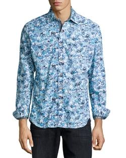 Robert Graham - Hibiscus-Print Woven Sport Shirt