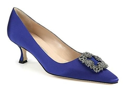 Manolo Blahnik - Hangisi 50 Satin Pumps