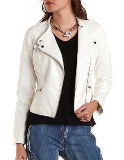 Charlotte Russe - Quilted Moto Jacket