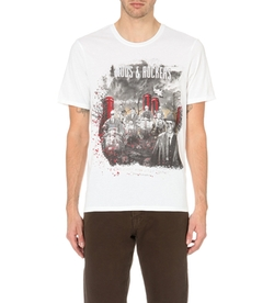 The Kooples - Printed Crew-Neck Cotton T-Shirt