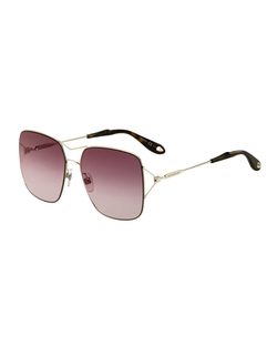 Givenchy  - Metal Double-Wire Square Sunglasses