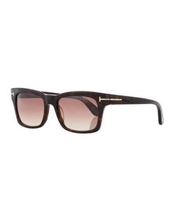 Tom Ford  - Frederick Acetate Rectangular Sunglasses