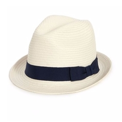 Saks Fifth Avenue Collection - Grosgrain-Trimmed Fedora