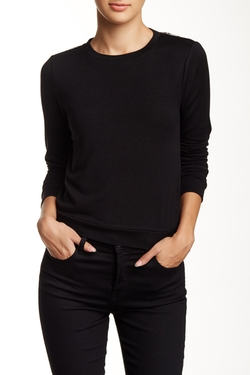 Alice + Olivia - Lace Back Shrunken Pullover