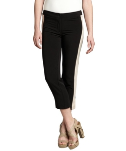 The Cue - Tuxedo Stripe Cropped Pants