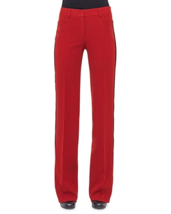 Akris Punto  - Contrast Stripe Wide-Leg Pants