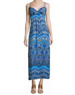 Laundry by Shelli Segal - Sleeveless Printed Maxi Dress