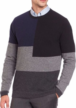 Saks Fifth Avenue Collection  - Cashmere Colorblocked Crewneck Sweater
