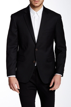 Louis Raphael - Comfort Serge Solid Two Button Notch Lapel Blazer